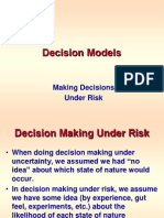 Decisions -- Under Risk