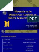 7_Gerencia en Operaciones Auriferas--Yanacocha