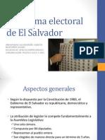El Sistema Electoral de El Salvador