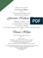 CCRP Awards Dinner Invitation 2013