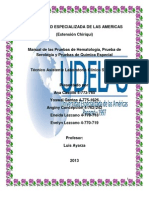 Quimica La Hematología, serologia y especial