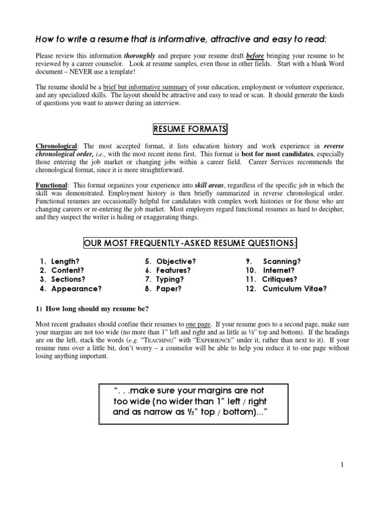 Resume Writing Tips Pdf R 233 Sum 233 Sentence Linguistics