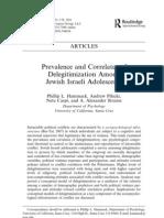 Prevalence and correlates of delegitimization among Jewish Israeli adolescents.