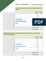 City commission survey results, 2012