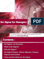 Presentation - Six Sigma for Managers