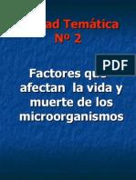 Ut 2 Factores Que Afectan La Vida y Muerte de Los Microorganismos