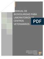 Manual de Bioseguridad Para Laboratorio de Veterinaria