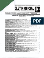 Publicación del Boletín Oficial del Gobierno del estado de Baja California Sur
