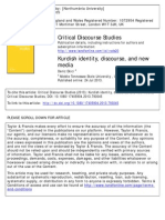 Kurdish Identity Discourse and New Media
