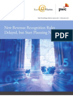 PWC US Revenue recognition changes 2013