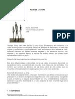 Ficha de Lectura - 3 Hombres Que Caminan Giacometti