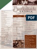 Bartoli No s Osteria Dinner Menu 09