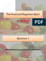 The Food and Digestion Quiz! Yr 9 Set 4
