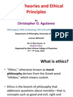 Moral Theories & Ethical Principles