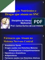 Interação Nutrientes e Drogas que atuam no SNC