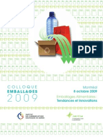 Programme Colloque Emballage 2009