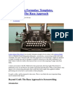 Screenwriting Formulas