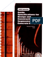 Guide Specifications for Design and Construction of Segmental Concrete Bridges(1)