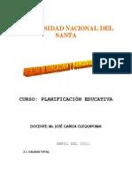 PLANIFICACIÒN EDUCATIVA CALIDAD MÓDULO JGC 2011