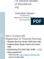 Focus on the Financials | Fall 2013 Undergraduate Orientation