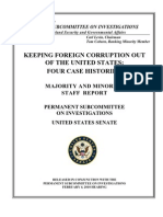 Foreign Corruption Us Senate Report