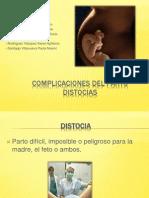 Complicaciones Del Parto- Distocias