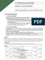 Chapitre 6 - Les Autres Fonds Propres - Cours