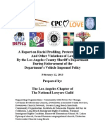 A Report on Racial Profiling, Pretextual Stops, And Other Violations of Law within the Los Angeles County Sherrif's Department
