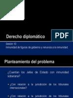 Derecho diplomático 10 - Renuncia a la inmunidad