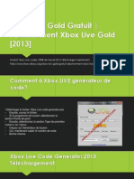 Xbox Live Gold Gratuit 2014