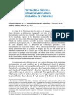 Bertrand, Denis, Lextraction Du Sens