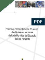 Politica de Desenvolvimento de Acervo