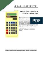 FINANCIAL CALCULATOR - Practice Exercises - Appraisal Institute