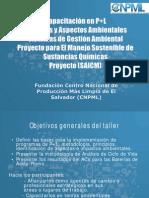 Capacitacion PML y ACV Representantes de Ingenios Guia de Plomo