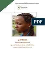 Memorias Encuentro Iberoamericano de Afrodescendencia