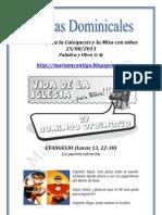 HOJITAS DOMINICALES PARA NIÑOS