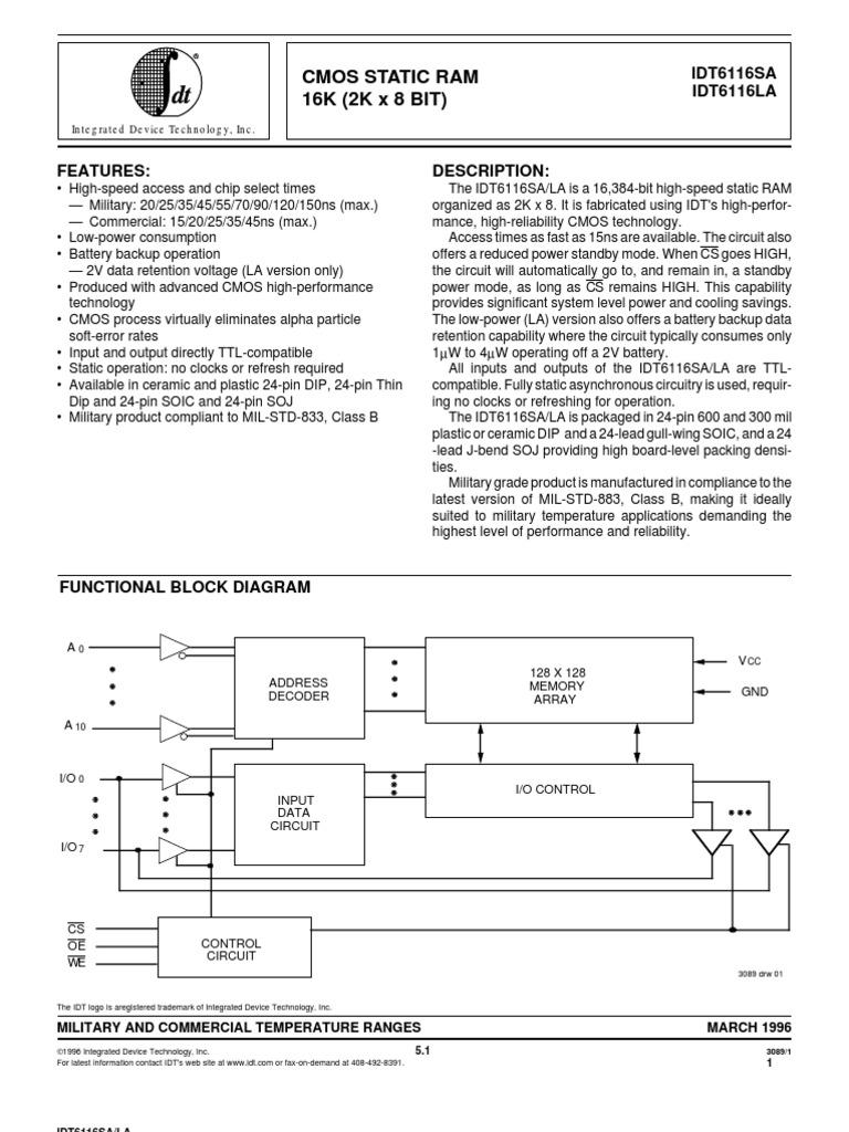 Block Diagram Of Ic 6116 - Wiring Diagram Schemes