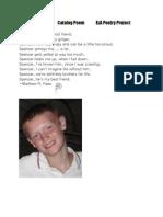 Catalog Poem