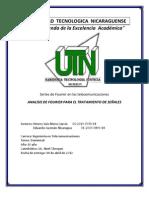 UNIVERSIDAD TECNOLOGICA NICARAGUENS Trabajo de Curso Series de Fourier Portada