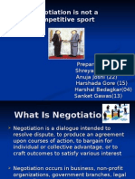 Negotiation is Not a Competitive Sport