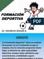 2-LA  FORMACIÓN  DEPORTIVA