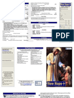 August 25, 2013 Worship Bulletin