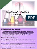 Reactividad y Equilibrio Quimico