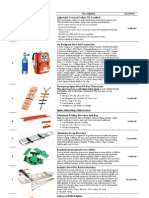 First Aid & Rescue Price List 2013