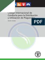 Código internacional de conducta para la distribución y ulización de plaguicidas