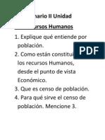 Cuestionario II Unidad