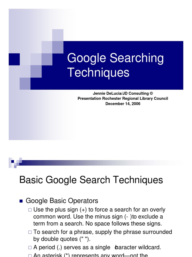 Google Searching Techniques Hyperlink Cyberspace