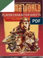 Gamma World Character Sheets 1984