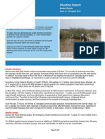 WHO Sudanfloods Situation Report 19 August 2013