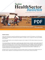 WHO Sudan Health Sector Bulletin Flood update 21 August 2013